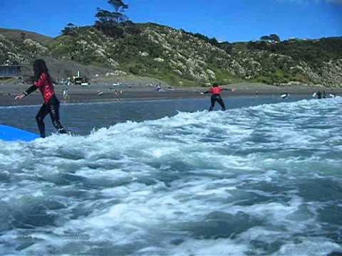 Surf Safe Surf Coaching Raglan NZ/ Beginner Surf Lesson