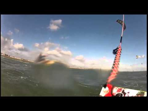 Kitesurfing learning how to jump lesson with Lewis Crathern