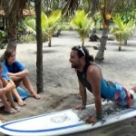 video of beginner surf lesson at Salinas Grande nicaragua THREE by NicaEco