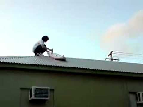Roof Surfing Fail