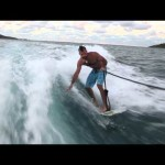 Wally Tender Wake Surfing Fail