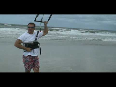 KITEBOARDING ACCIDENT DURING LESSONS  W POWER KITE AT NEPTUNE BEACH FL. See the end.;-)
