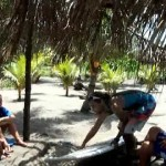 video of beginner surfing lesson at Salinas Grande Nicaragua FOUR by NicaEco.com