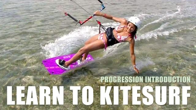 Learn To Kitesurf DVD & Mobile Videos – English – Progression Kiteboarding Beginner