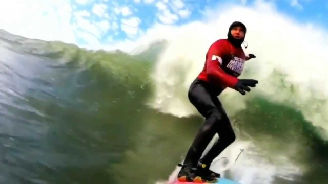40 Foot Waves At Mavericks Invitational Surfing Event 1-24-2014  Excerpts
