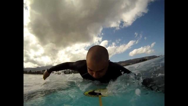 Duck Diving a Longboard