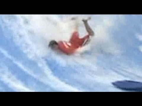 Surfer sick WIPE OUT! SURFING Fail