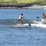 Paddle surfing fails in Maui, Hawaii