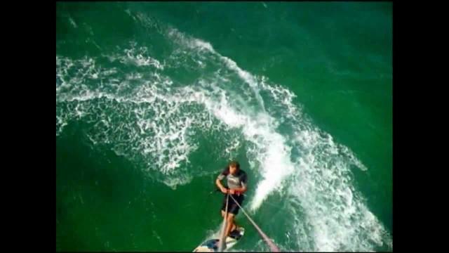 Maui Kite Surfing Lesson, Jibing Around w/ kiteboard instructor Troy