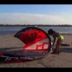 Kiteboarding lesson, kite boarding kite set up