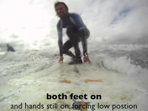 Surf Lesson: Learning the pop up with Bens Surf Clinic