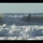 Beginner Surfing Al Merrick Motorboat by Channel Islands | Nice swell at UK Surf Spot Swansea