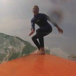 GoPro Longboard surfing in cornwall