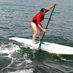 First stand up paddle surfing lesson