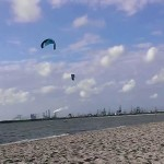 first good day of kitesurfing after my lessons