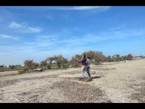 Kite surfing lesson