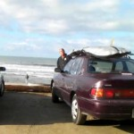 lets go to san onofre and longboard surf and try surfing