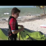 Anthar 9 years kiteboarding kid