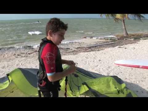 Anthar 9 years kiteboarding kid