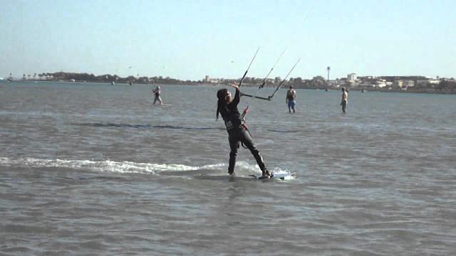 Kite Surfing lesson. Egypt