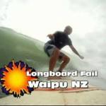 Surfing longboard fail Waipu 15022011