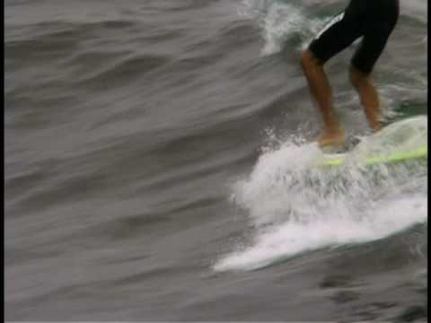 Longboard Surfing…Colin McPhillips at HB…music by Brandon Bristow from Longboard Habit