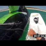 Kiteboarding self-rescue : wrapping lines method