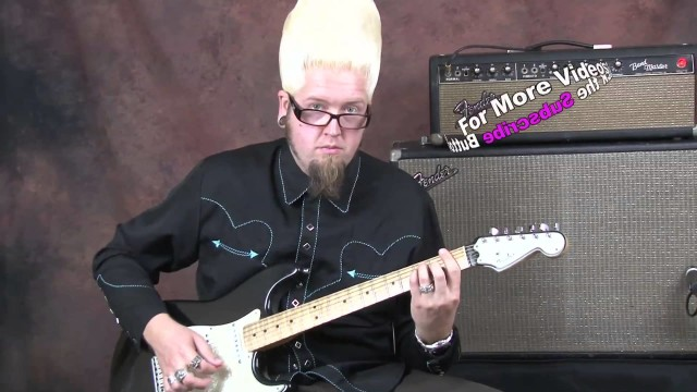 Learn surf guitar lesson cool funky chords and riffs played on Fender Custom Shop Stratocaster