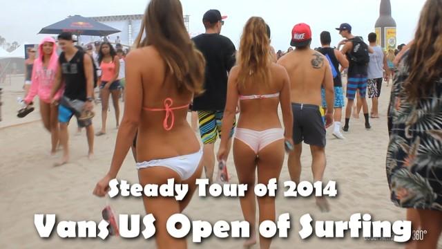 [HD] Tour of 2014 Vans U.S Open of Surfing – Steadicam Tour – Huntington Beach, CA