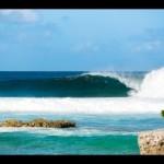 Surfing at Kandooma Resort, Maldives
