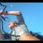 Kite Boarding Instructor Troy, Handle Pass as viewed from the board