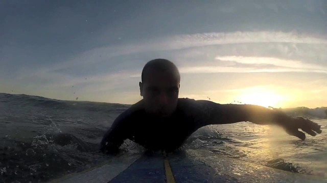 Longboard Surfing, Sunset into the night