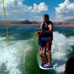 K-Man and Uncle T Wake Surfing at Lake Powell, Utah