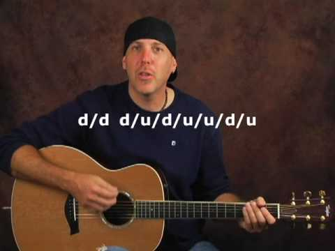 Learn to play acoustic guitar many strum patterns lesson
