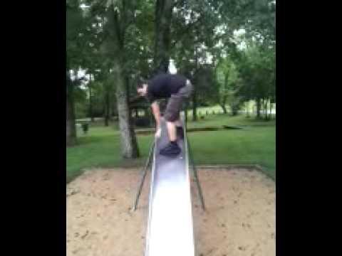 Slide Surfing Fail