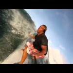 GoPro slo mo Longboard floater surfing in Barbados