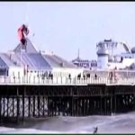 Kite Surfer Jumps 100ft  Brighton pier –  England – Awesome