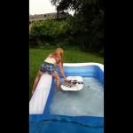 the mini pool surfing fail