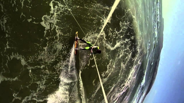 Kitesurfing at Hells Mouth Jack from Offaxis