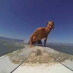 Surfing tiny waves on the Longboard in O'side