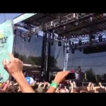 Crowd surfing fail Firefly 2013