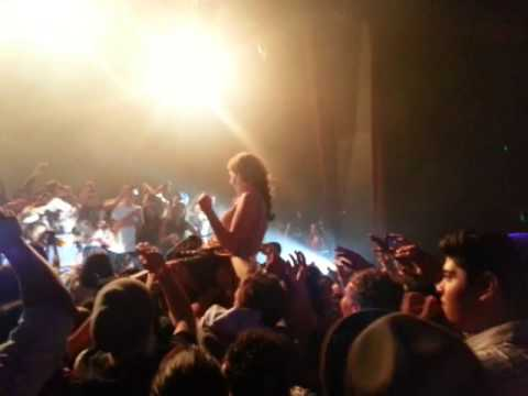 Crowd surfing fail