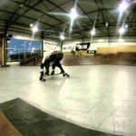 Our First longboard lessons at NorthPark Indoor SkatePark