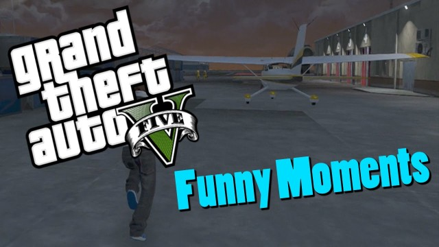 GTA 5 Online (Funny Moments) Surfing Glitch and Airport Fails