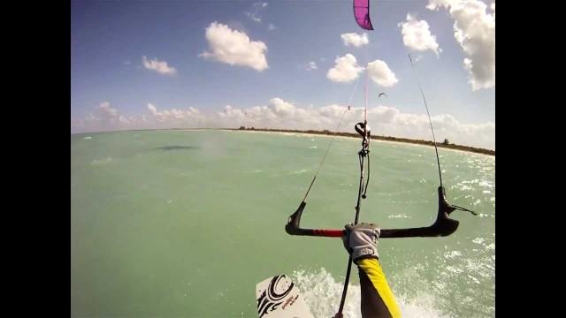 Kitesurfing Helmet Cam — Isla Holbox, Mexico  March 2012
