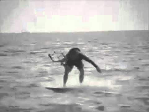 Extreme kite surfing fail