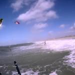 """Downwind"" kitesurfing"