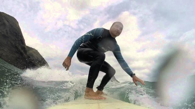 Piha longboarding surf 27 12 14