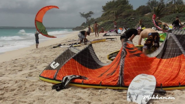 Kite Surfing at Silver Sands, Barbados